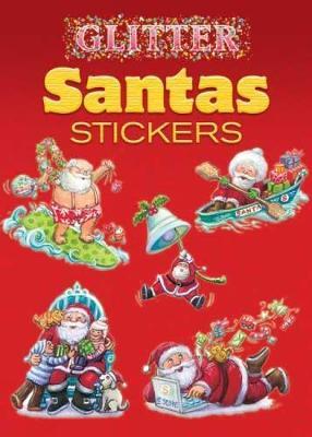 Glitter Santas Stickers by Yu-Mei Han