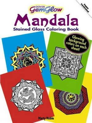 Gemglow Stained Glass Coloring Book Mandala by Marty Noble