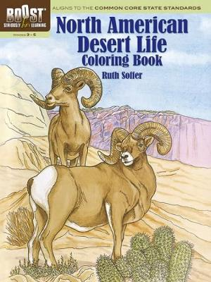 BOOST North American Desert Life Coloring Book by Ruth Soffer