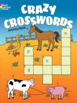 Crazy Crosswords Activity Book by Anna Pomaska