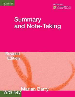 Summary and Note-Taking with key by Marian Barry