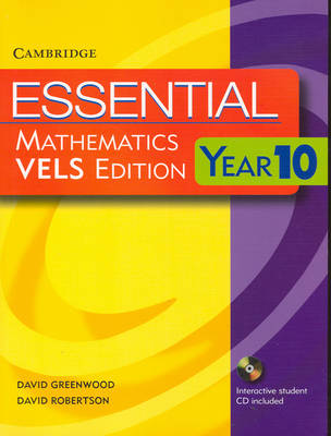 Essential Mathematics VELS Edition Year 10 Pack with Student Book, Student CD and Homework Book by David Greenwood, David Robertson