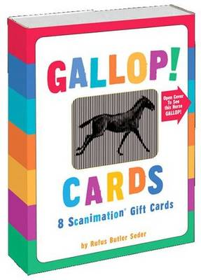 Gallop! Cards 8 Scanimation Gift Cards by Rufus Butler Seder