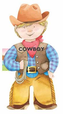 Cowboy Mini People Shaped Books by Giovanni Caviezel, C. Mesturini