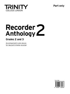 Recorder Anthology (Grades 2-3) Part Only by Trinity College London