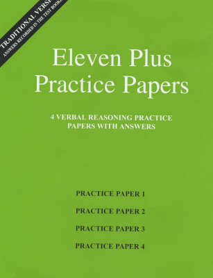 Eleven Plus Practice Papers 1 to 4 Traditional Format Verbal Reasoning Papers with Answers by AFN Publishing
