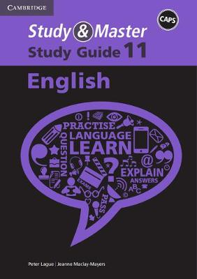 Study and Master English Grade 11 CAPS Study Guide by Jacqueline de Vos, Jeanne Maclay-Mayers