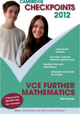 Cambridge Checkpoints VCE Further Mathematics 2012 by Neil Duncan