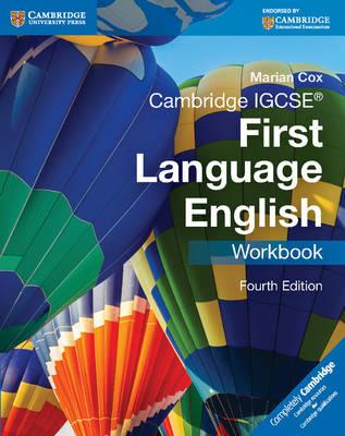 Cambridge IGCSE (R) First Language English Workbook by Marian Cox