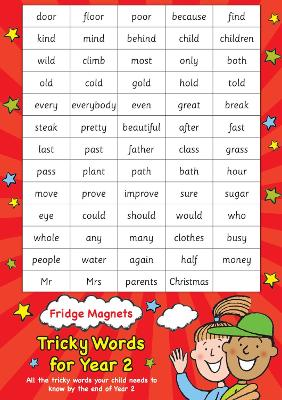 Fridge Magnets - Tricky Words for Year 2 by Scholastic