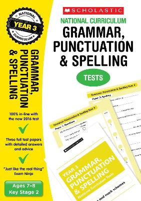 Grammar, Punctuation and Spelling Test - Year 3 by Catherine Casey