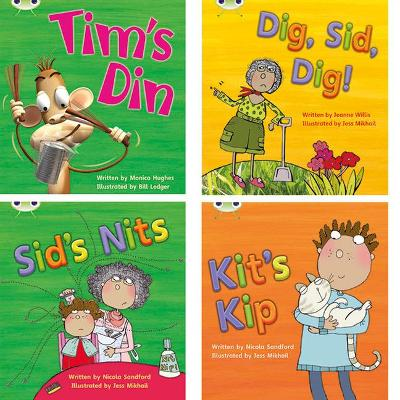 Learn to Read at Home with Phonics Bug: Pack 1 (Pack of 4 fiction books) by Monica Hughes, Nicola Sandford, Jeanne Willis