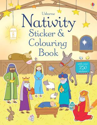 Nativity Sticker and Colouring Book by Felicity Brooks