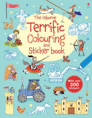 The Usborne Terrific Colouring and Sticker Book by Sam Taplin