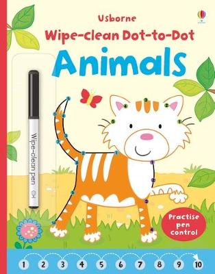 Wipe Clean Dot-to-Dot Animals by Katrina Fearn