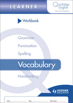 Quickstep English Workbook Vocabulary Learner Stage by Sue Hackman