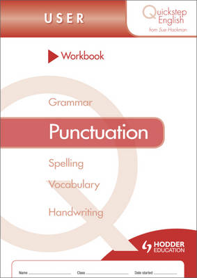 Quickstep English Workbook Punctuation User Stage by Sue Hackman