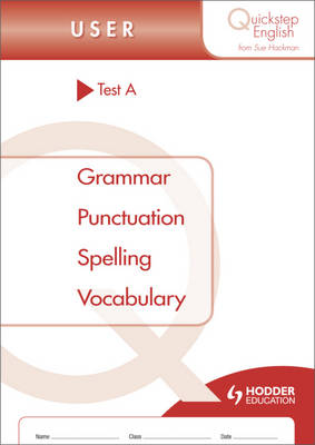 Quickstep English Test A User Stage by Sue Hackman