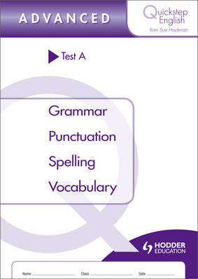 Quickstep English Test A Advanced Stage by Sue Hackman