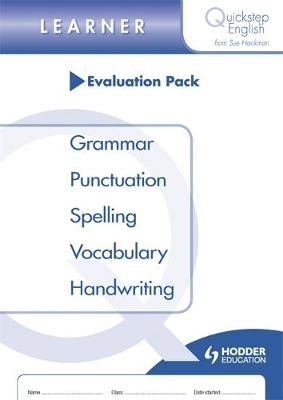 Quickstep English Learner Stage Evaluation Pack by Sue Hackman