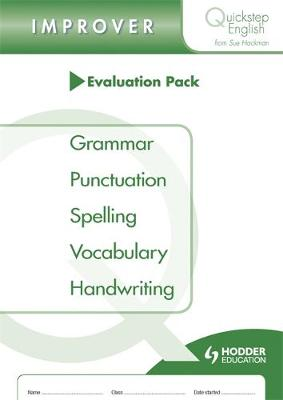 Quickstep English Improver Stage Evaluation Pack by Sue Hackman