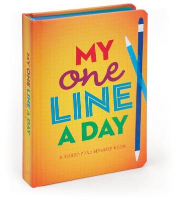 My One Line a Day A Three-Year Memory Book by Chronicle Books