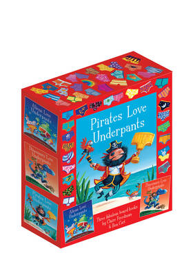 The Underpants Board Book slipcase includes Aliens Love Underpants; Dinosaurs Love Underpants and Pirates Love Underpants by Claire Freedman, Ben Cort