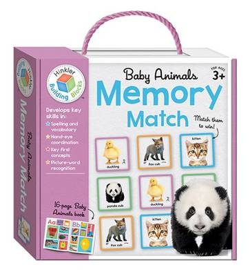 Baby Animals Building Blocks Memory Match by