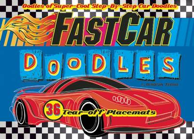 FastCar Doodles 36 Tear-Off Placemats by Deborah Zemke