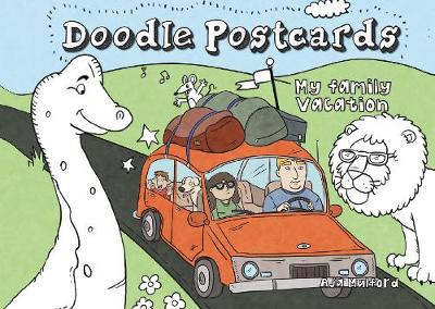 My Family Vacation Doodle Postcards by Aja Mulford