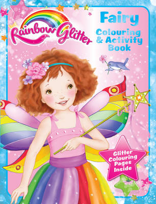 Rainbow Glitter Colouring Book - Fairy Floss by