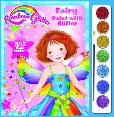 Rainbow Glitter Paint with Glitter - Fairy Floss by