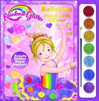 Rainbow Glitter Paint with Glitter - Tina Ballerina by Krutop Lee