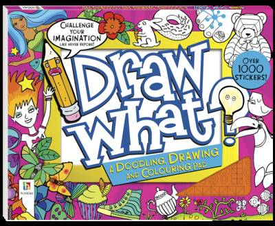 Draw What? a Doodling Drawing and Colouring Pad (Pink) by