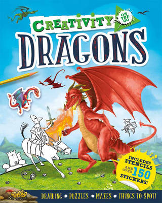 Creativity On the Go: Dragons Drawings, Puzzles, Mazes and Things to Spot! by Andrea Pinnington