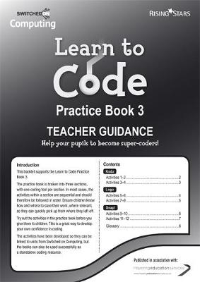 Learn to Code Teacher's Notes 3 by Claire Lotriet