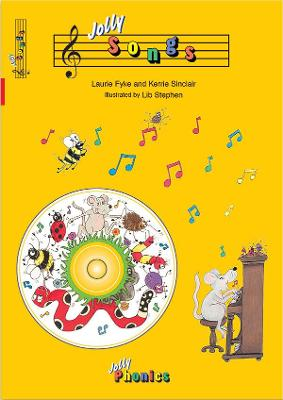 Jolly Songs (book and CD) in Precursive Letters (BE) by Laurie Fyke, Kerrie Sinclair