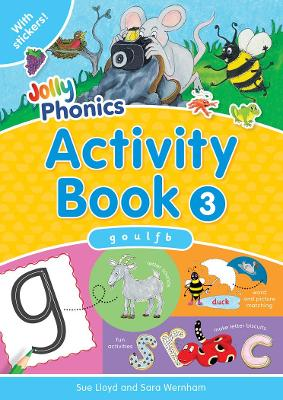 Jolly Phonics Activity Book 3 in Precursive Letters (BE) by Sara Wernham, Sue Lloyd