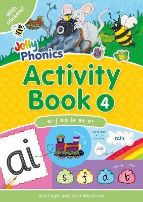 Jolly Phonics Activity Book 4 in Precursive Letters (BE) by Sara Wernham, Sue Lloyd