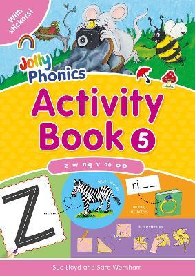 Jolly Phonics Activity Book 5 in Precursive Letters (BE) by Sara Wernham, Sue Lloyd