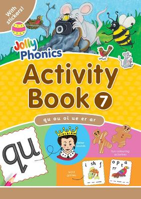 Jolly Phonics Activity Book 7 in Precursive Letters (BE) by Sara Wernham, Sue Lloyd
