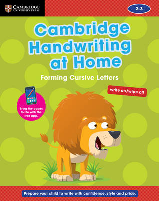 Cambridge Handwriting at Home: Forming Cursive Letters by Gill Budgell, Kate Ruttle