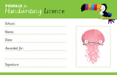 Penpals for Handwriting Pen Licence Cards (pack of 200) by