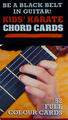 50 Guitar Flash Cards Kids' Karate Chord Cards by