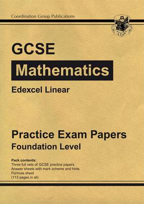 GCSE Maths Edexcel A (Linear) Practice Papers - Foundation (A*-G Resits) by CGP Books