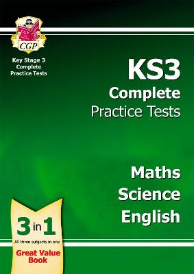 KS3 Complete Practice Tests - Science, Maths and English by CGP Books