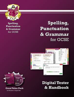 Spelling, Punctuation & Grammar for GCSE - Digital Tester and Handbook by CGP Books