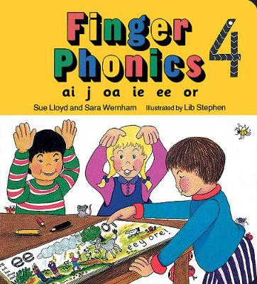 Finger Phonics book 4 in Precursive Letters (BE) by Sara Wernham, Sue Lloyd