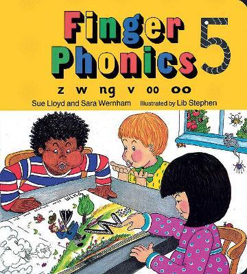 Finger Phonics book 5 in Precursive Letters (BE) by Sara Wernham, Sue Lloyd