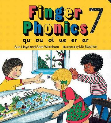 Finger Phonics book 7 in Precursive Letters (BE) by Sara Wernham, Sue Lloyd